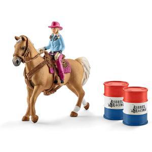 Schleich - 41417 - Barrel racing avec une cowgirl - 5,1 cm x 24,2 cm x 18,9 cm (334668)