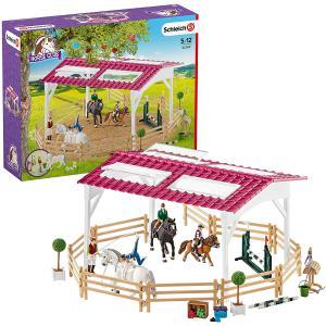 Schleich - 42389 - École d'équitation avec cavalière et chevaux (334692)