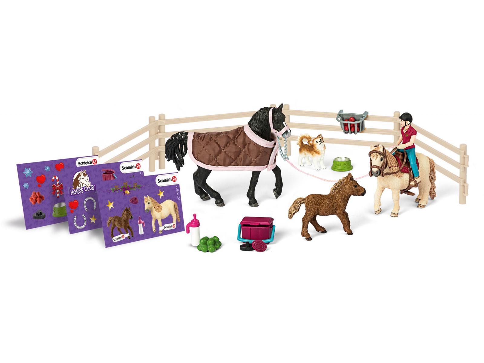 schleich calendrier de l 39 avent chevaux 2017. Black Bedroom Furniture Sets. Home Design Ideas