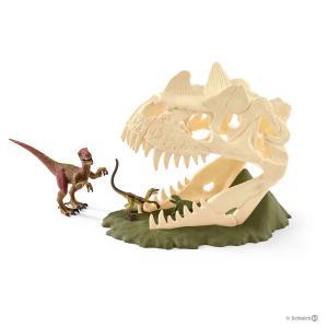 Schleich - 42348 - Grand piège crâne avec Vélociraptor (334736)