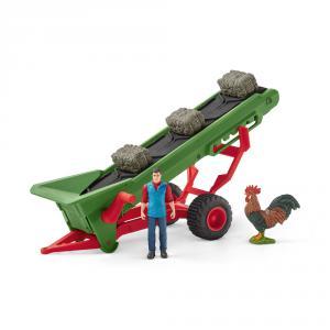 Schleich - 42377 - Bande transporteuse de foin avec fermier (334738)