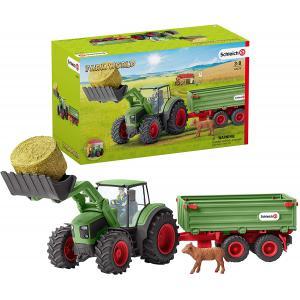 Schleich - 42379 - Tracteur avec remorque (334740)