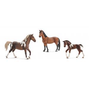 Schleich - BU13758 - Figurines de chevaux Trakehnen (jument, cheval, poulain) (334760)