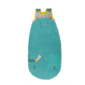 Moulin Roty - 660089 - Sac de couchage 90/110 cm chat bleu Les Pachats (335282)