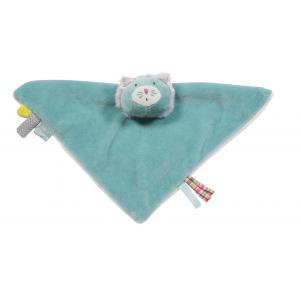 Moulin Roty - 660054 - Doudou chat bleu carré Les Pachats (335332)