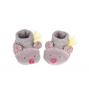 Moulin Roty - 660050 - Chaussons souris gris Les Pachats (335336)