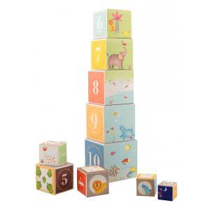Moulin Roty - 658215 - Cubes empilables Les Papoum (335584)
