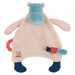 Moulin Roty - 658015 - Doudou attache tétine hippopotame Les Papoum (335638)