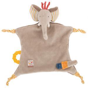 Moulin Roty - 658016 - Doudou attache tétine éléphant Les Papoum (335640)