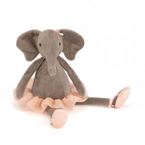 Jellycat - DD6E - Dancing Darcey Elephant -  Hauteur 33 cm (336306)