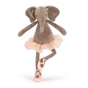 Jellycat - DD6E - Peluche Elephant Dancing Darcey - L = 10 cm x l = 10 cm x H =33 cm (336306)