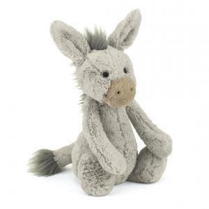 Jellycat - BAS3DN - Bashful Donkey Medium -  Hauteur 31 cm (336620)