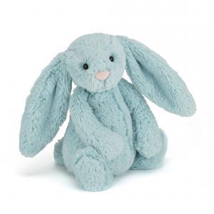 Jellycat - BAS3AQ - Bashful Aqua Bunny Medium -  Hauteur 31 cm (336690)