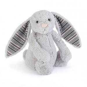 Jellycat - BAS3BLA - Bashful Blake Bunny Medium -  Hauteur 31 cm (336694)