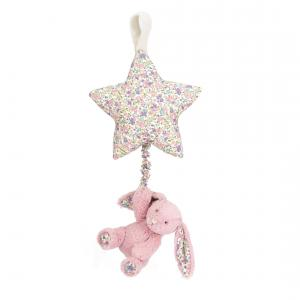 Little Jellycat - BAMS4BTP - Blossom Tulip Bunny Star Musical Pull -  Hauteur 28 cm (337038)