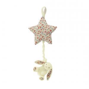 Little Jellycat - BAMS4CBB - Blossom Cream Bunny Star Musical Pull -  Hauteur 28 cm (337042)