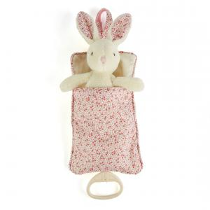 Little Jellycat - PEB4MP - Petal Bunny Musical Pull -  Hauteur 23 cm (337062)