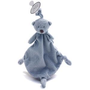 Dimpel - 882947 - Noann tuttie bleu, ours doudou attache tetine (337454)