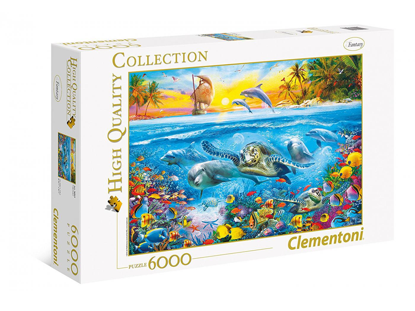 clementoni puzzles 6000 pi ces underwater. Black Bedroom Furniture Sets. Home Design Ideas