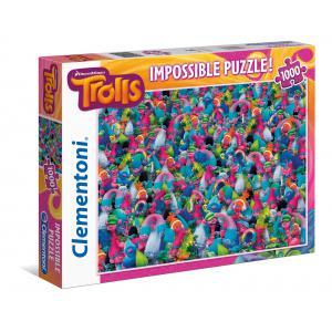 Clementoni - 39369 - Puzzle Impossible 1000 pièces - Trolls (337510)