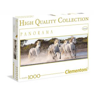 Clementoni - 39371 - Puzzles 1000 Pièces - Panorama -Running horses (A2x1) (337530)
