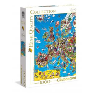 Clementoni - 39384 - Puzzles 1000 pièces high quality collection - Europe map (337550)