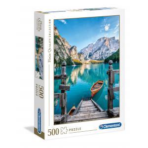 Clementoni - 35039 - Puzzles 500 Pièces - Braies lake (337580)