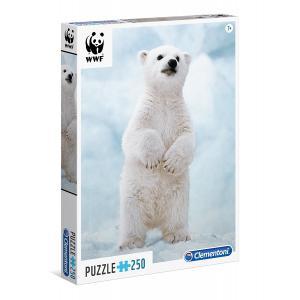 Clementoni - 29744 - Puzzles 250 Pièces - WWF 250p polar beer  (Ax2) (337590)