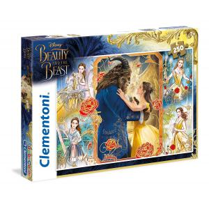 Clementoni - 29743 - Puzzles 250 Pièces - The Beauty and the Beast, live action (Ax1) (337594)