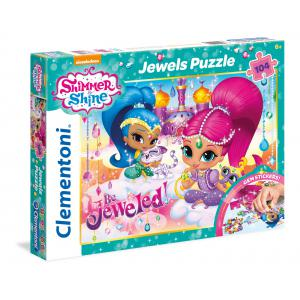 Clementoni - 20143 - Puzzles 104 Pièces Glitter/Jewels/Brillant - Shimmer and shine (337614)