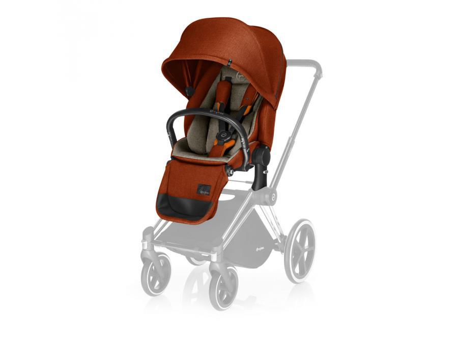 cybex si ge de luxe orange autumn gold pour poussette priam. Black Bedroom Furniture Sets. Home Design Ideas