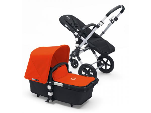 Poussette cameleon³ châssis alu base noir habillage orange