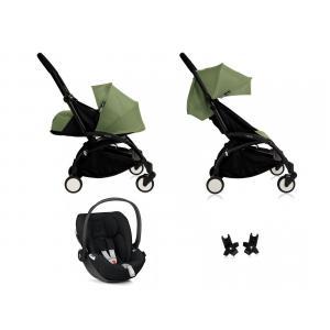Babyzen - BU063 - Nouvelle poussette Babyzen Yoyo plus complète cadre noir habillages 0+ et 6+ peppermint et siège auto Babyzen Besafe noir (339456)
