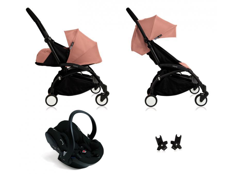 nouvelle poussette babyzen yoyo plus compl te cadre noir habillages 0 et 6 ginger et si ge. Black Bedroom Furniture Sets. Home Design Ideas