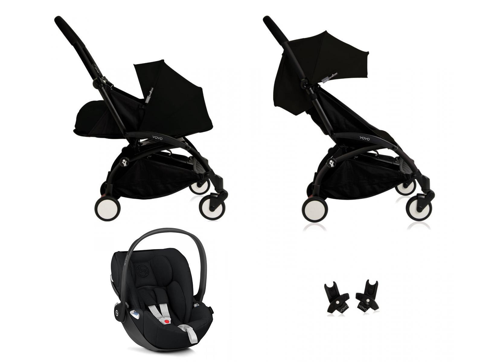 nouvelle poussette babyzen yoyo plus compl te cadre noir habillages 0 et 6 noir et si ge auto. Black Bedroom Furniture Sets. Home Design Ideas