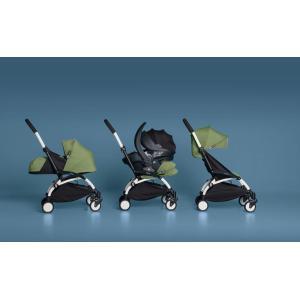 Babyzen - BU040 - Poussette Yoyo+ complète cadre  blanc habillages 0+ et 6+ ginger et siège auto iZi Go Modular gris (339504)
