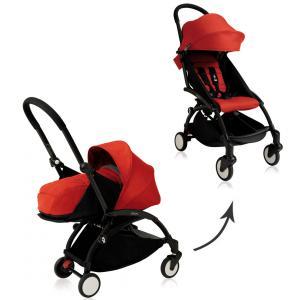 Babyzen - BU028 - Nouvelle poussette Babyzen Yoyo plus complète cadre noir habillages 0+ et 6+ rouge (339528)