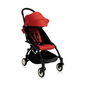 Babyzen - BU012 - Nouvelle poussette Babyzen Yoyo plus cadre noir pack couleur 6+ rouge (339562)
