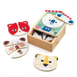 Djeco - DJ01679 - Puzzle bois Face-mix (340414)