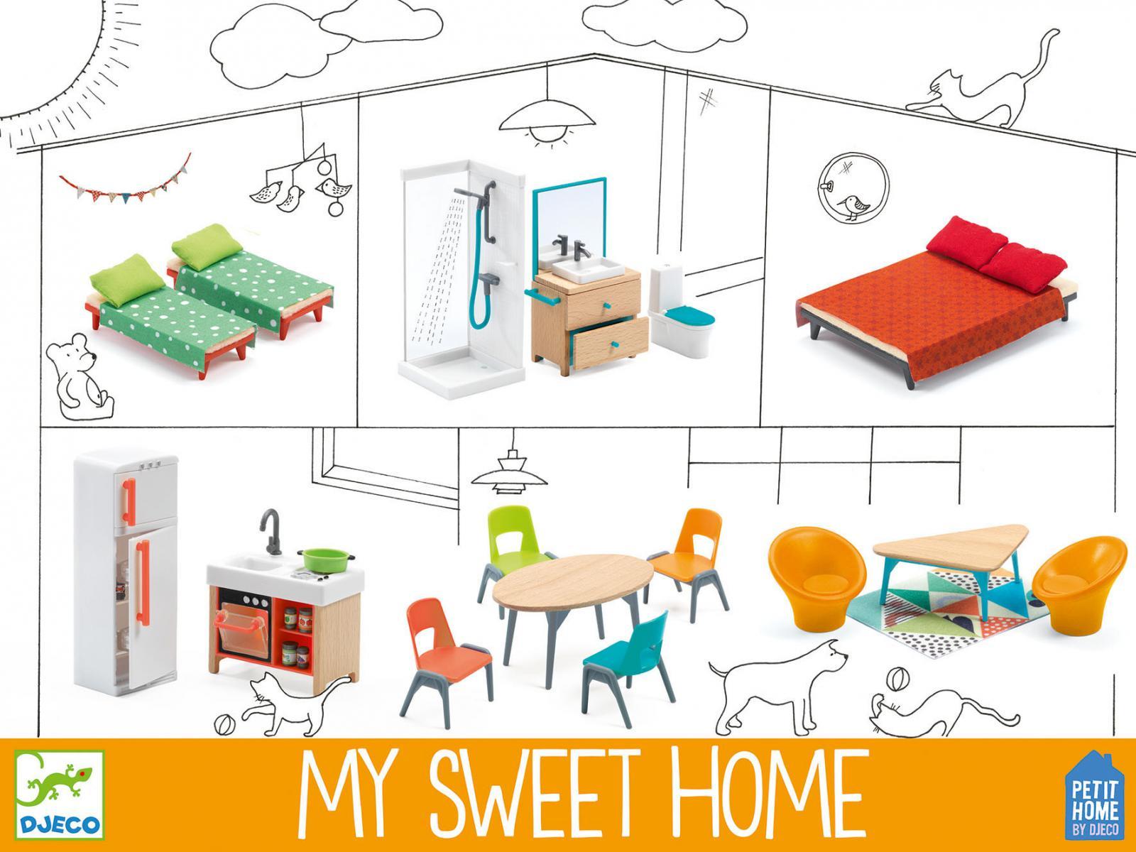 djeco my sweet home. Black Bedroom Furniture Sets. Home Design Ideas