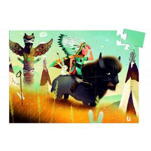 Djeco - DJ07224 - Puzzles silhouettes -  Tatanka, jeune indien - 36 pièces* (340482)