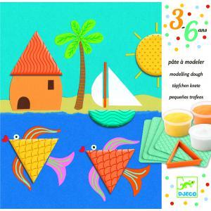 Djeco - DJ09891 - Les petits - Coloriages - Des empreintes et des formes * (340572)