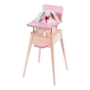 Moulin Roty - 720806 - Chaise haute rose formica (340836)