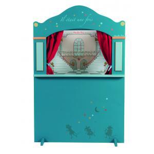 Moulin Roty - 711303 - Grand théâtre de marionnettes bleu Il était une fois (340916)