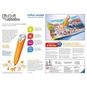 Ravensburger - 00781 - Jeux éducatifs Tiptoi - Coffret complet lecteur interactif + Livre Ferme (341236)