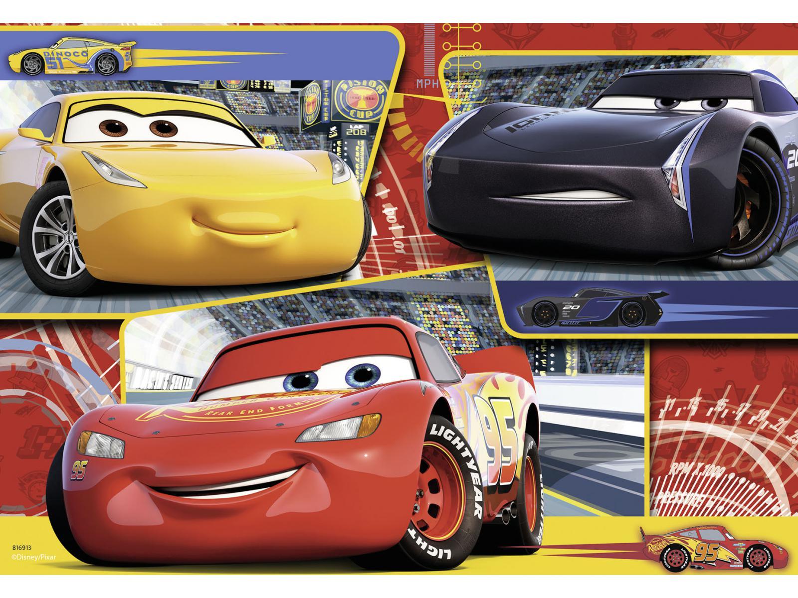 ravensburger puzzle 2x24 pi ces cars 3 titre confirmer. Black Bedroom Furniture Sets. Home Design Ideas