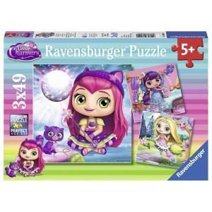 Ravensburger - 08009 - Puzzle 3x49 pièces - Rose, Lavande et Noisette / Les mini Sorcières (341308)