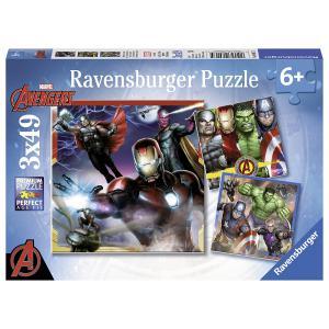 Avengers - 08017 - Puzzle 3x49 pièces - Les puissants Avengers (341314)