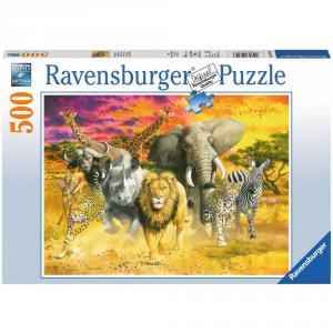 Ravensburger - 14724 - Puzzle 500 pièces - Animaux africains (341356)