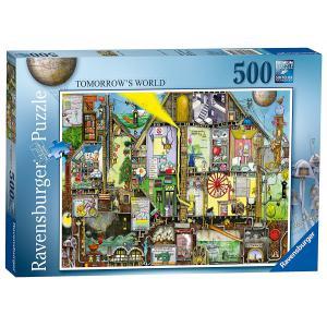 Ravensburger - 14731 - Puzzle 500 pièces - Le monde de demain / Colin Thompson (341358)